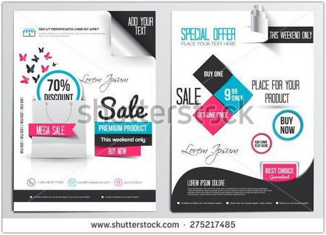 Discount Flyer Design Template