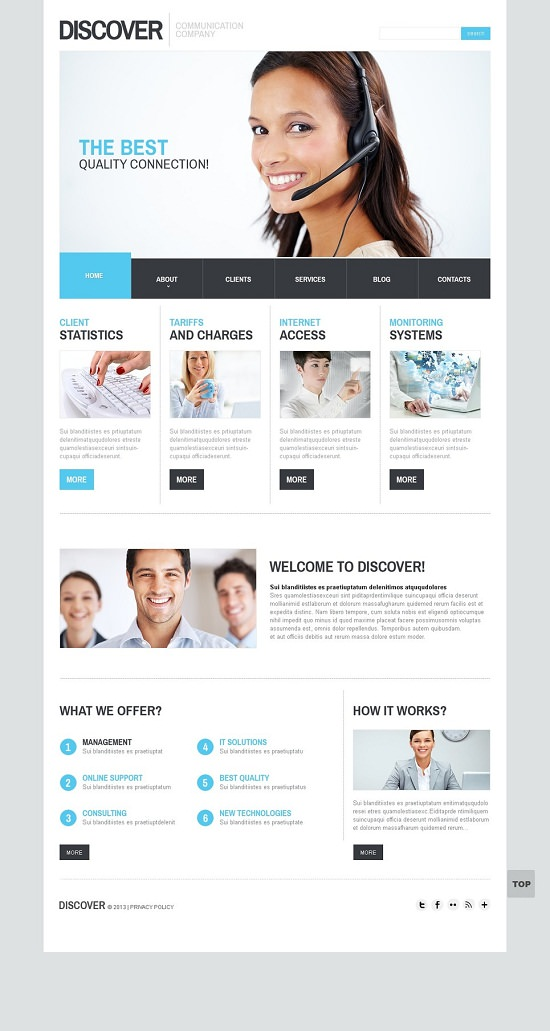Discover Responsive Website Template