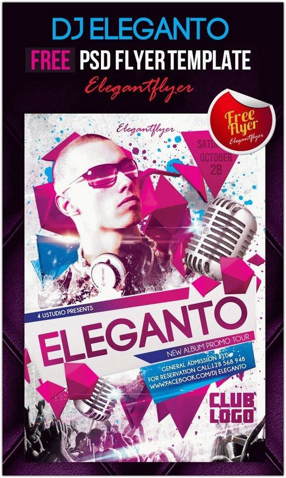 Dj Eleganto – Club and Party Free Flyer
