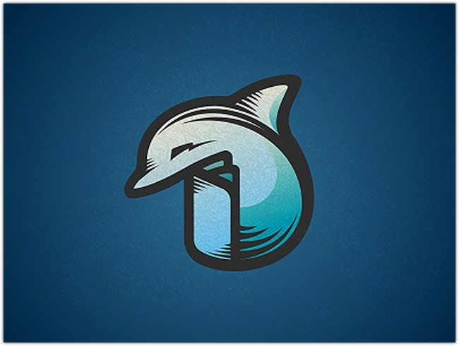 Dolphin Book Logo Design
