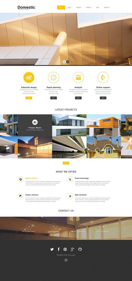 Domestic Architecture Responsive WordPress Theme
