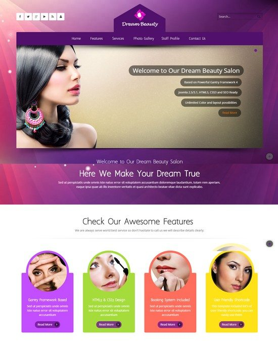 Dream - Beauty Salon Responsive Joomla Template