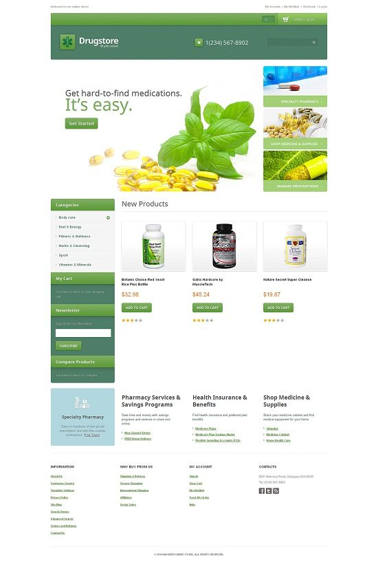 DrugStore Responsive Magento Theme