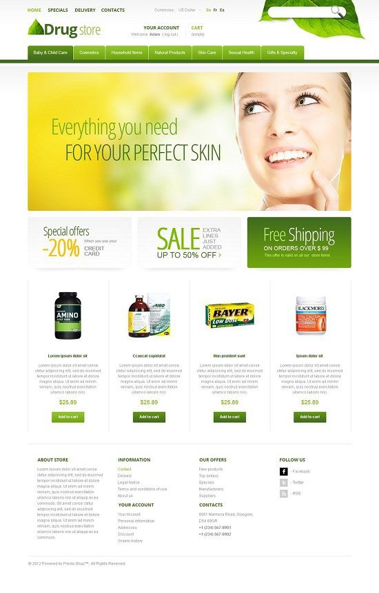 Drugs for Active Life PrestaShop Theme