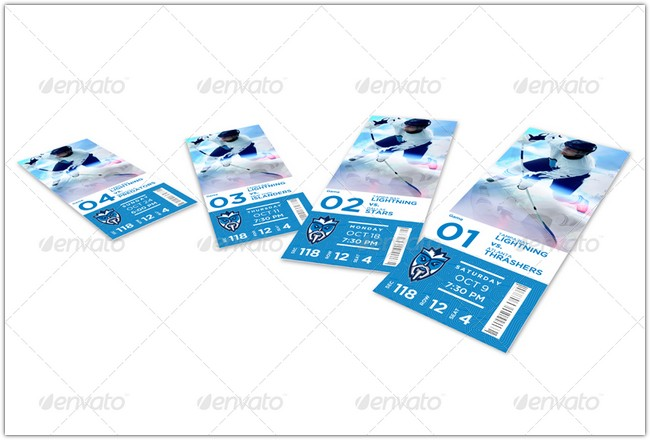 Dynamic Portfolio Event Ticket Mock-Up