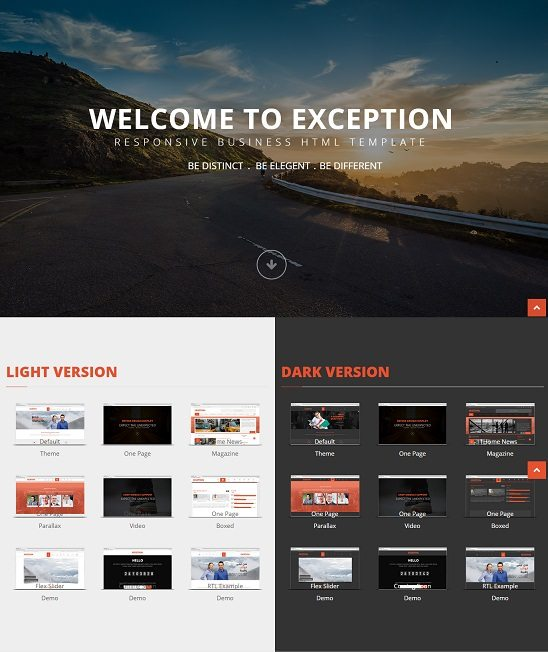EXCEPTION - Responsive Business HTML Template