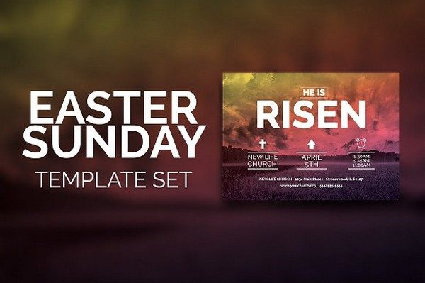 Easter Sunday Church Template-Rustic