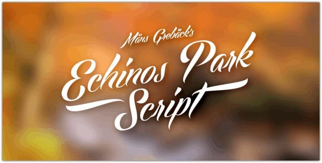 Echinos Park Script PERSONAL US font