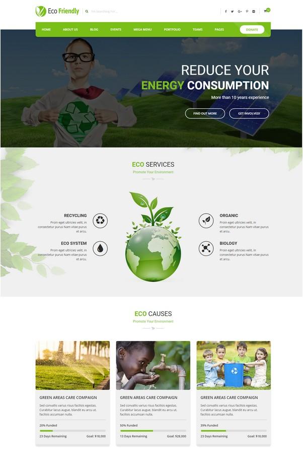 Eco Friendly Environmental Ecology Template