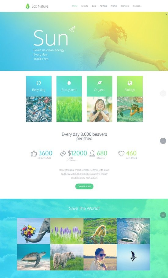 Eco Nature - Environment & Ecology HTML5 Template