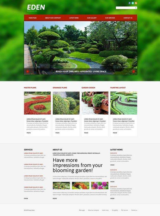 Eden Landscape Design Responsive Joomla Template