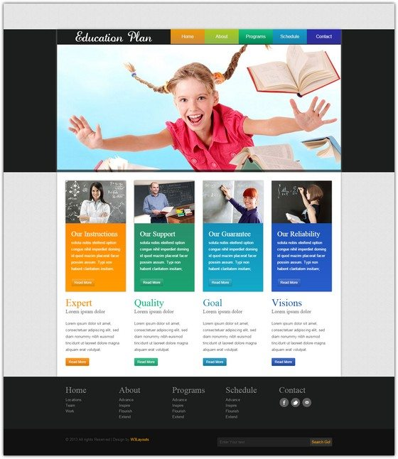 Education Plan web template