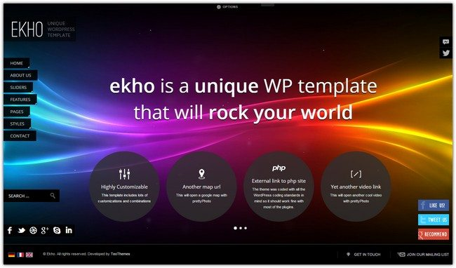 Ekho - Unique Responsive WordPress Theme