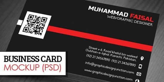 Elegant & Clean Business Card Mockup (PSD)