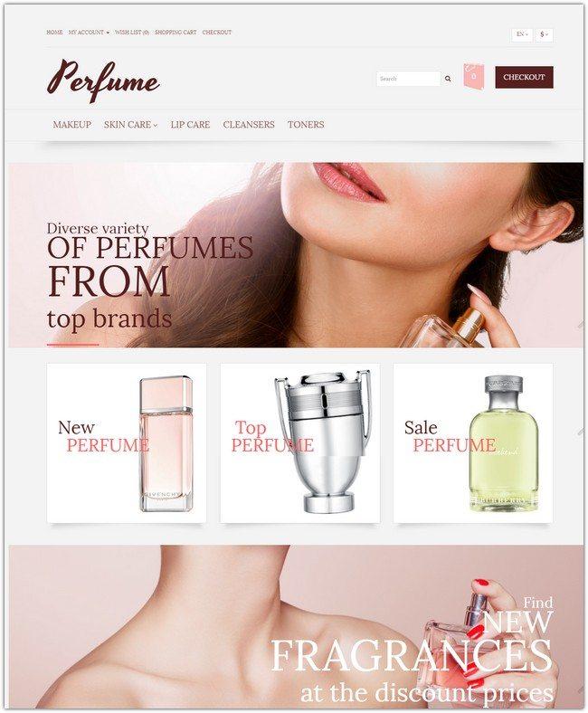 Elegant Fragrance OpenCart Template