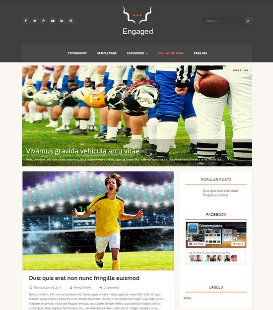 Engaged Blogger Template