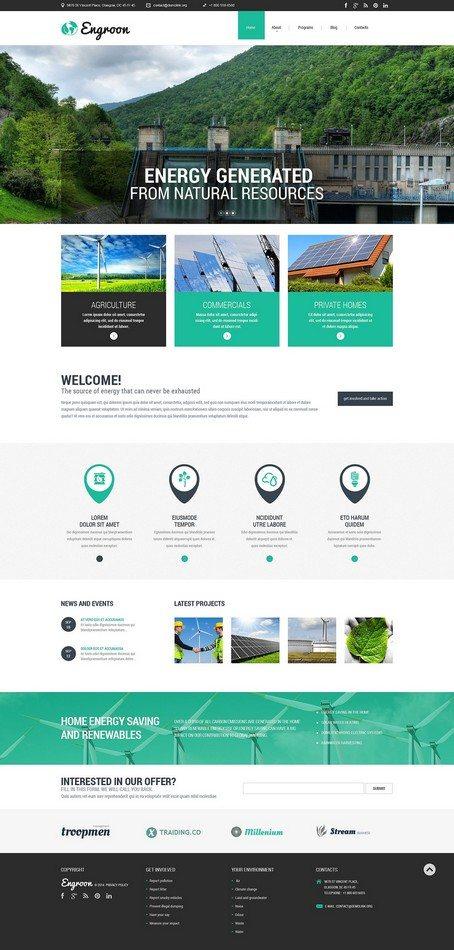 Engroon Environmental Responsive Website Template
