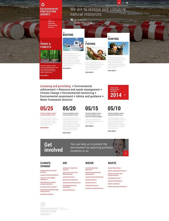 Environmental Agency Responsive Website Template
