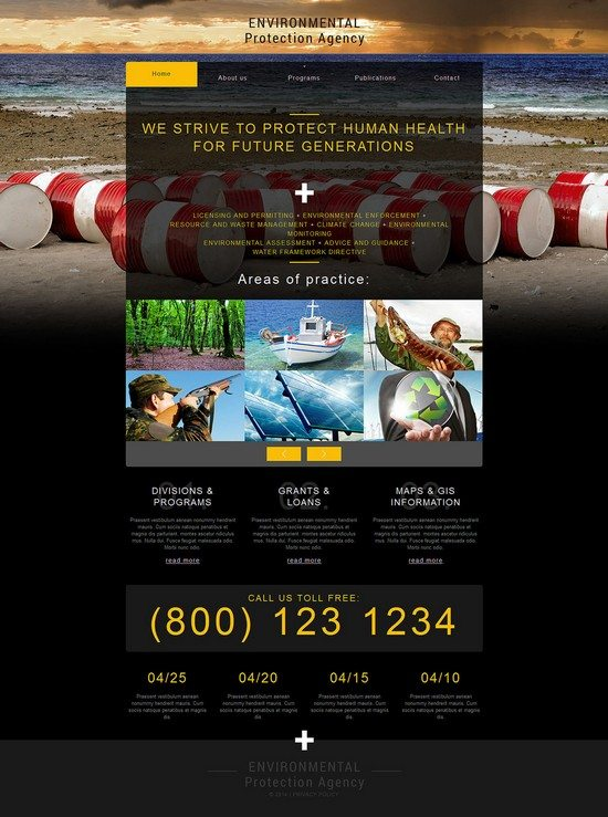 Environmental Protection Agency Responsive Website Template