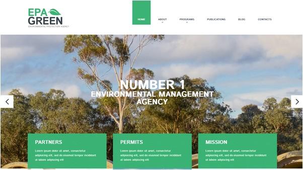 Environmental Website Template