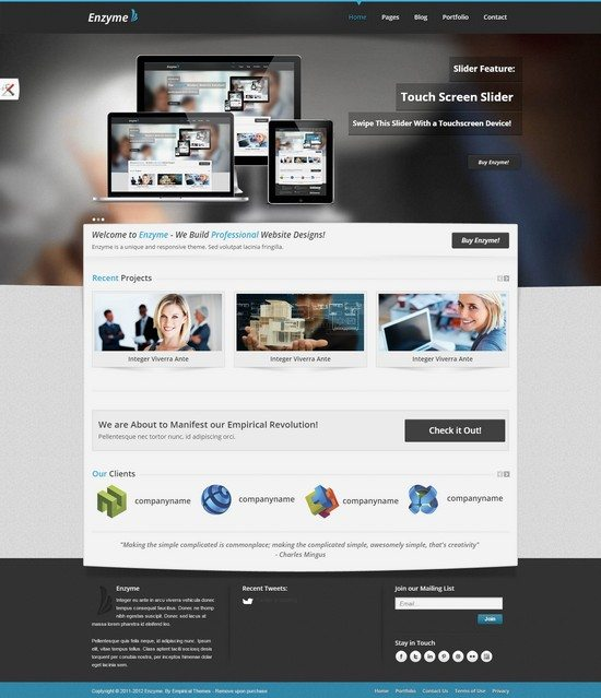 Enzyme - Unique and Professional Corporate Theme