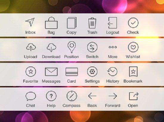 Exploring some iOS 7 tab bar icons