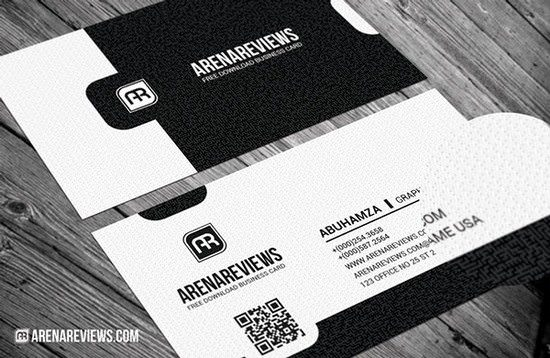Exquisite Black & White Business Card