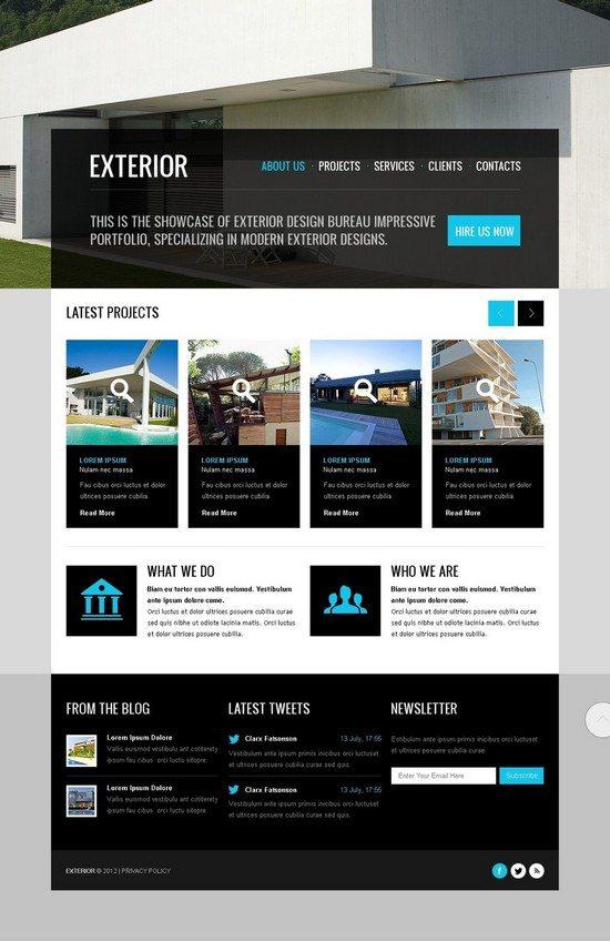 Exterior Design Website Template