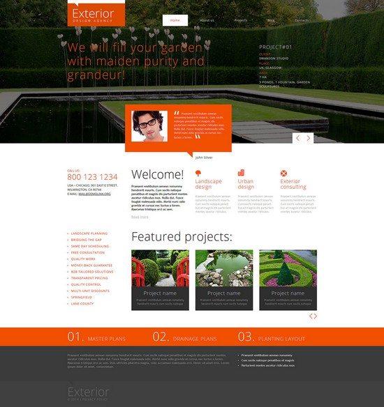 Exterior Garden Design Responsive Joomla Template