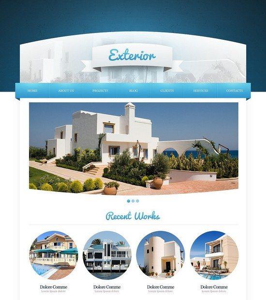 Exterior Home Design Joomla Template
