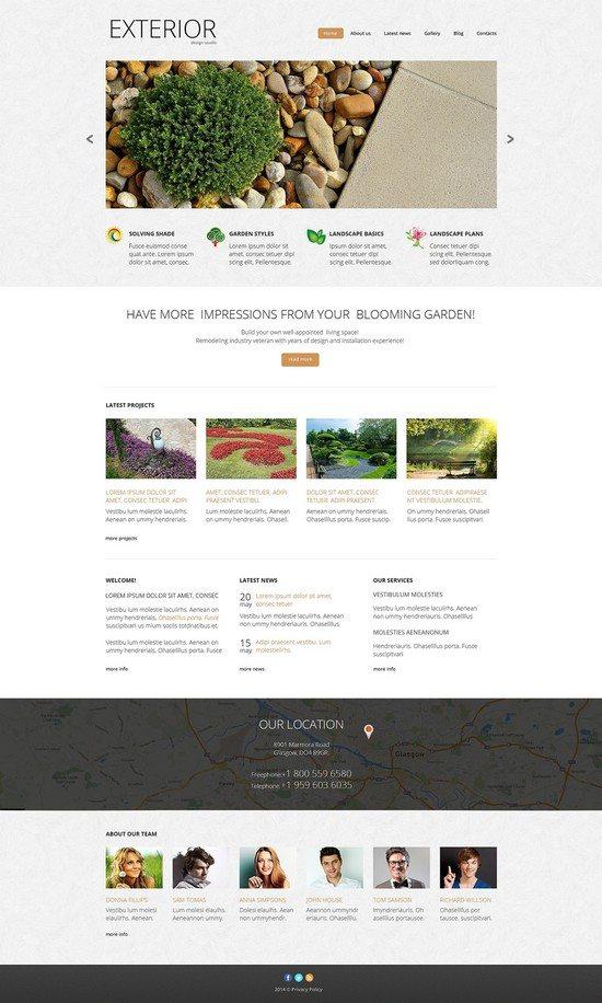 Exterior Landscape Design Responsive Website Template