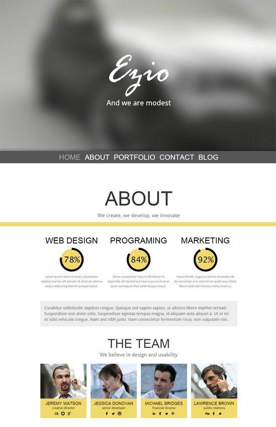 Ezio – One Page Parallax HTML5 Template