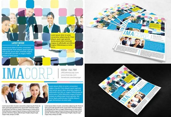 FREE PSD FLYER - Colorful Corporate