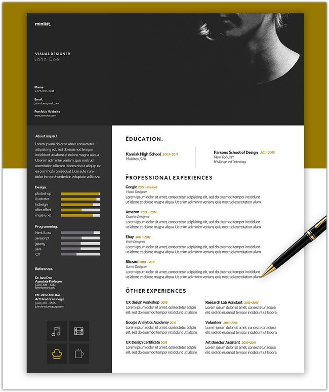 FREE Resume Template #Designer Edition.