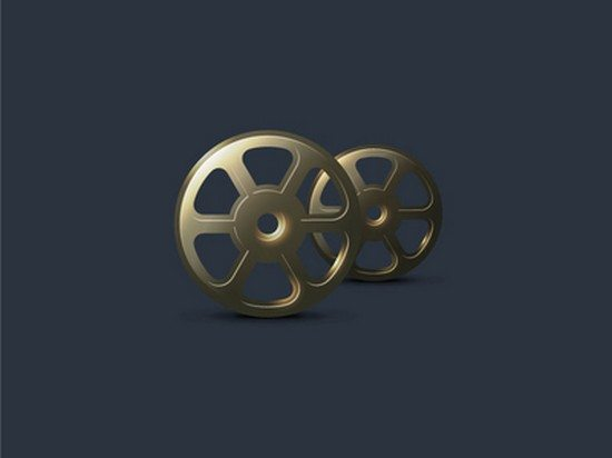 FREE Vector Vintage Film Roll Icon