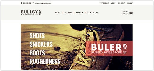 FREEBIE BULER ECOMMERCE WEBSITE PSD TEMPLATE