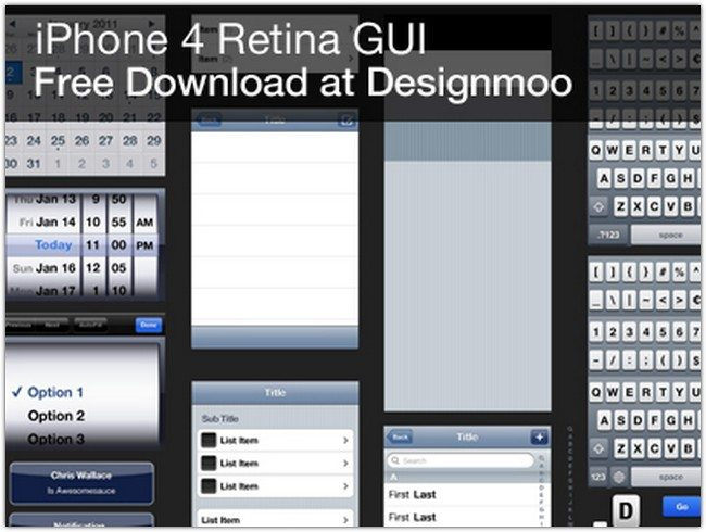 FREEEEE iPhone 4 GUI PSD