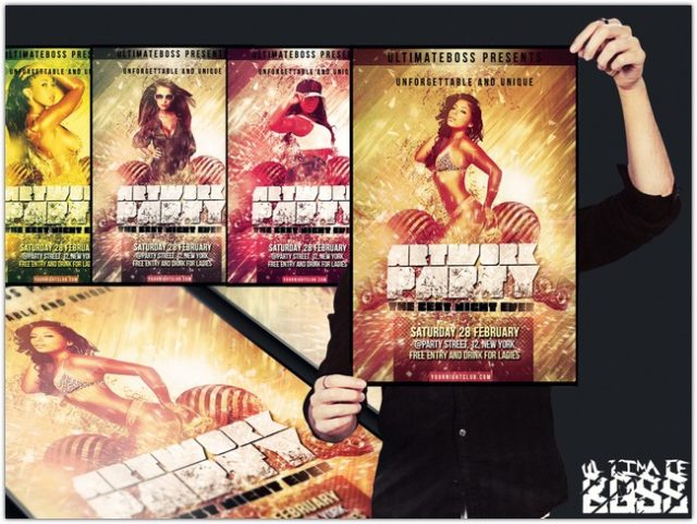 FREEMIUM artwork party flyer psd