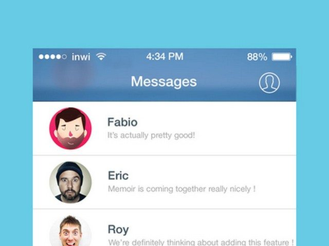 Facebook Messenger iOS 7 redesign