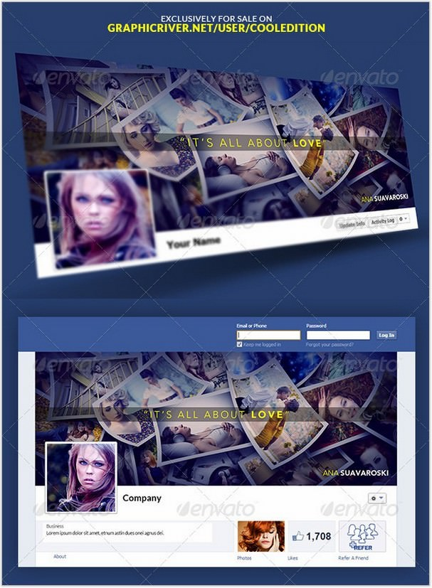 Facebook Timeline Covers Templates VOL4