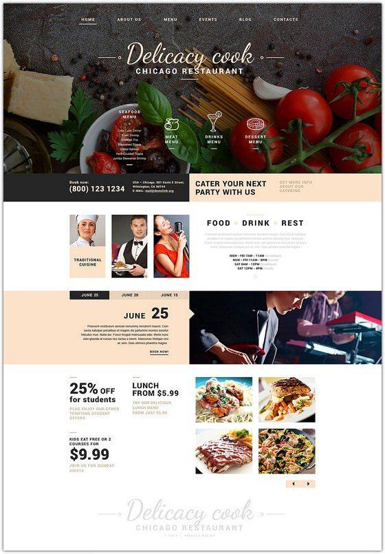 Fancy Restaurant Joomla Template