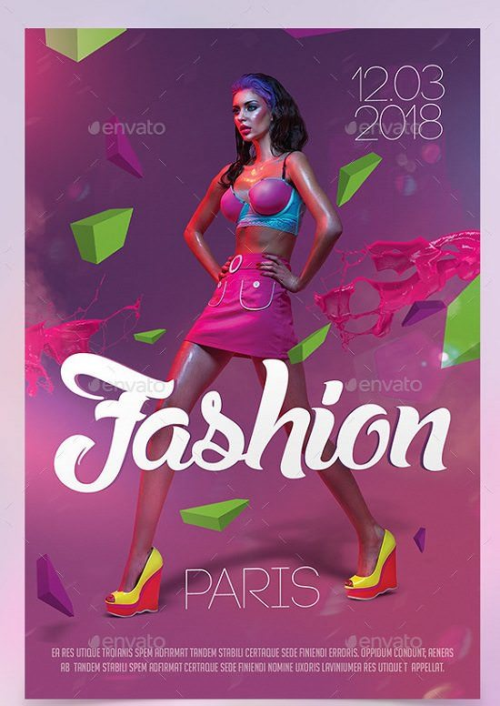 Fashion Show Flyer Template Paris