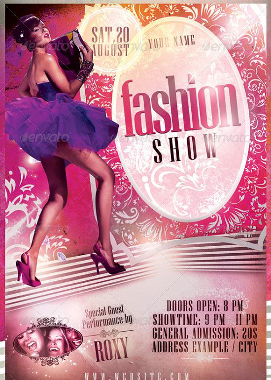 fashion shows, festivals, shops, boutiques Flyer