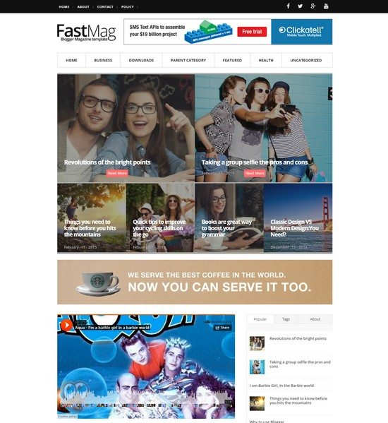 FastMag Responsive blogger template