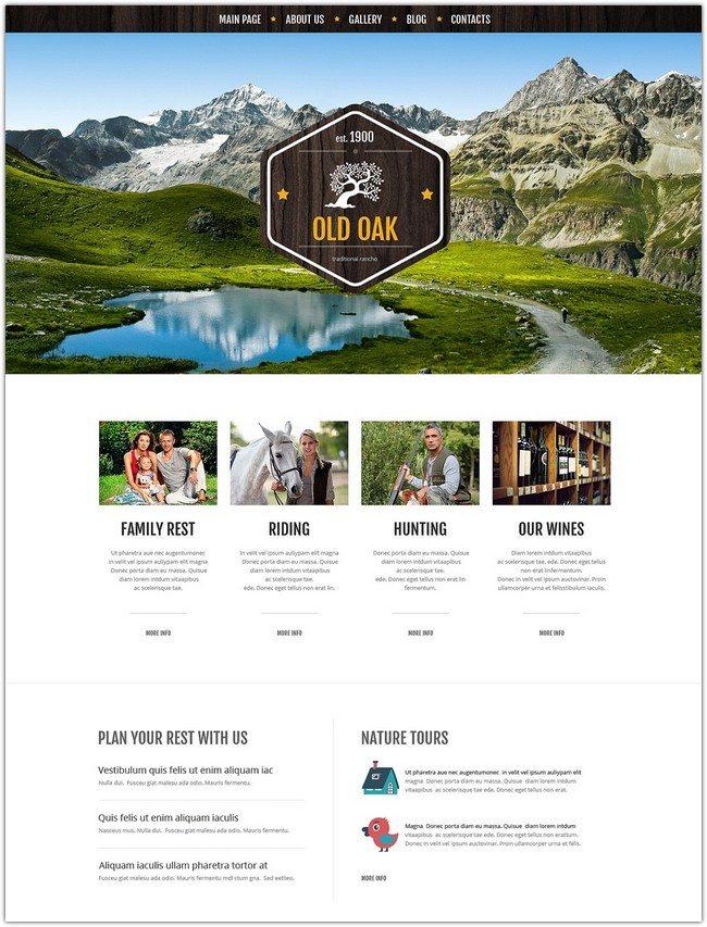 Favorable Ranch Location WordPress Theme