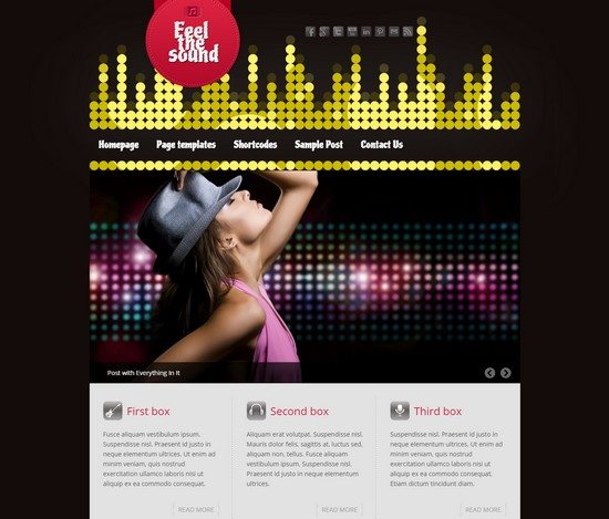 Feel the Sound Music WordPress Theme Free