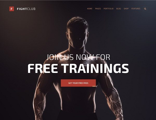 FightClub - Bodybuilding Fitness & Yoga WP Theme