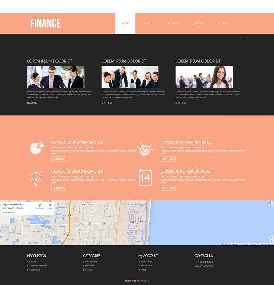 Finance Corporate Business Mobile website Template