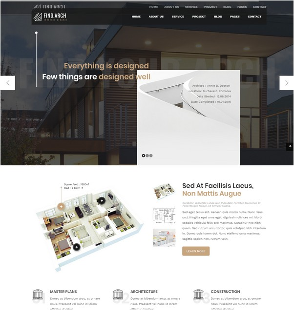 Find.ARC - Interior Design - HTML5 Template