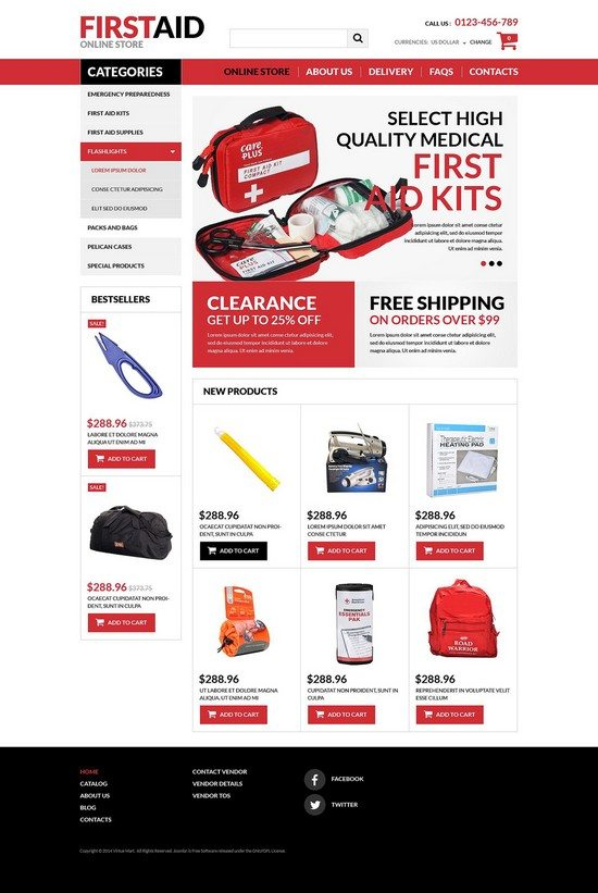 First-Aid-Store-VirtueMart-Template